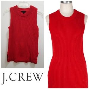 J.CREW Red Sleeveless Tunic Sweater/Pullover